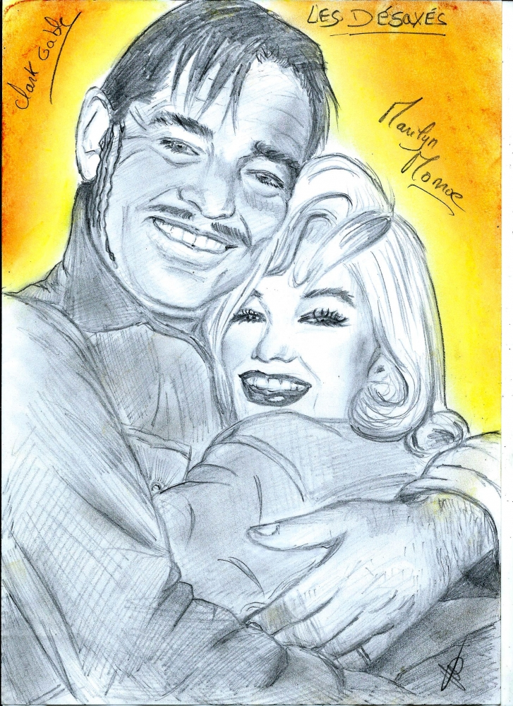 Marilyn Monroe, Clark Gable by isabella1988